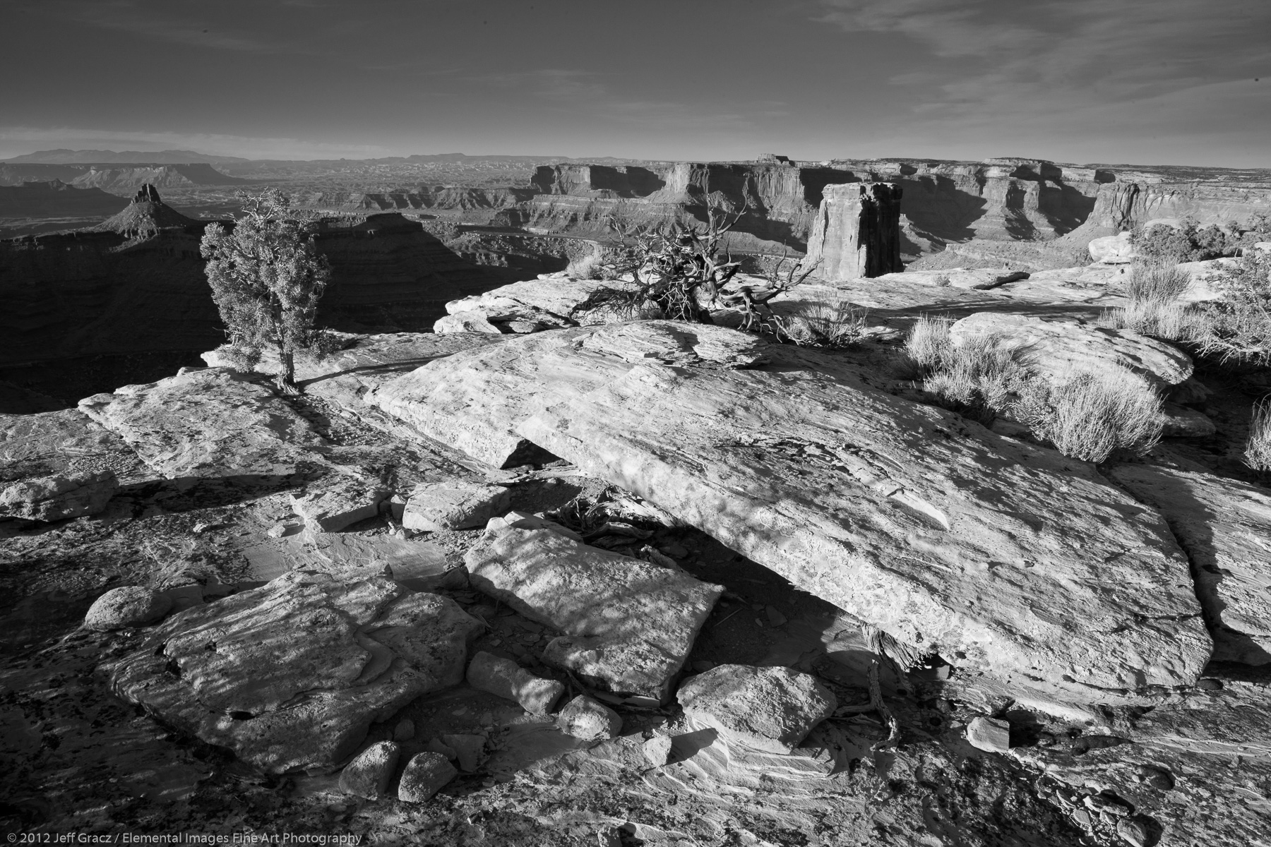 Marlboro Point in Black and White | BLM | UT | USA - © © 2012 Jeff Gracz / Elemental Images Fine Art Photography - All Rights Reserved Worldwide