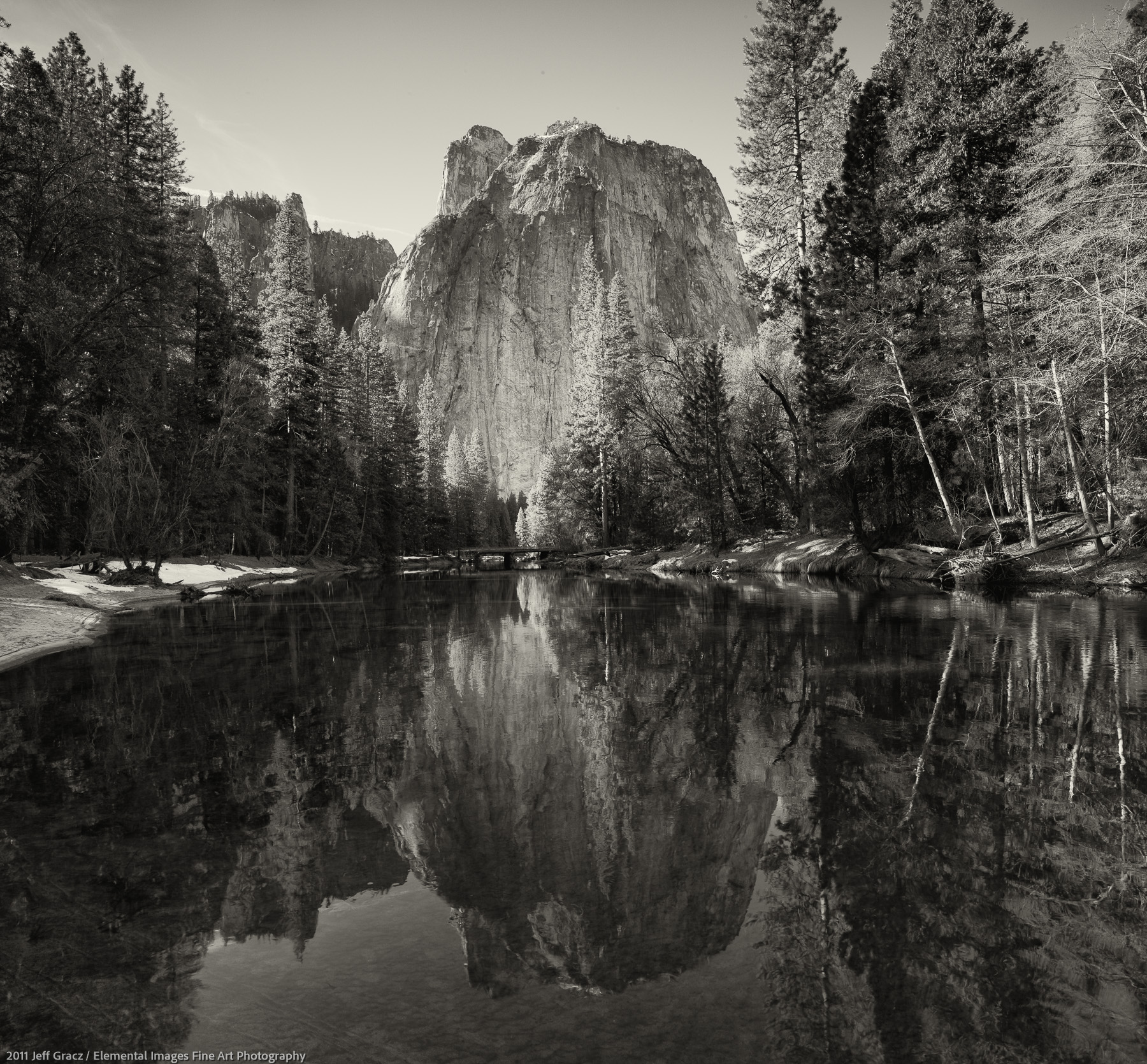 Catherdral Rocks and Merced River | Yosemite National Park | CA | USA - © 2011 Jeff Gracz / Elemental Images Fine Art Photography - All Rights Reserved Worldwide