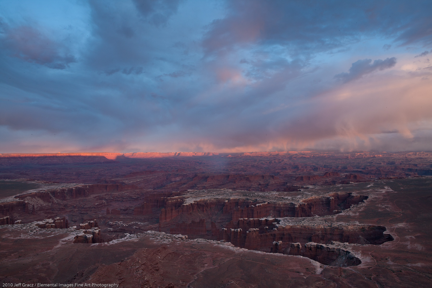 Evening Light over Monument Basin | Canyonlands National Park | UT | USA - © 2010 Jeff Gracz / Elemental Images Fine Art Photography - All Rights Reserved Worldwide