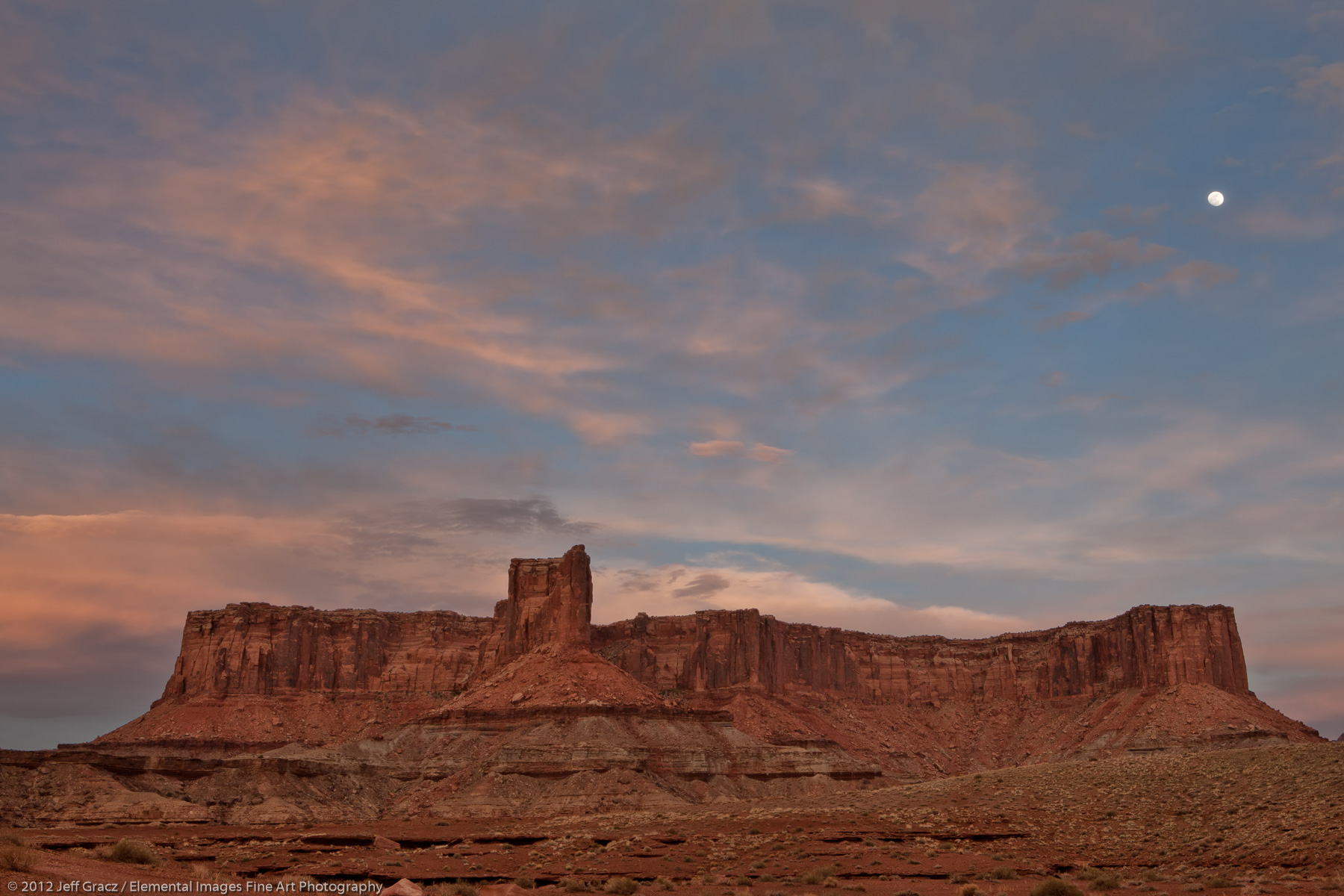 Candlestick Tower Moonrise | Canyonlands National Park | UT | USA - © © 2012 Jeff Gracz / Elemental Images Fine Art Photography - All Rights Reserved Worldwide