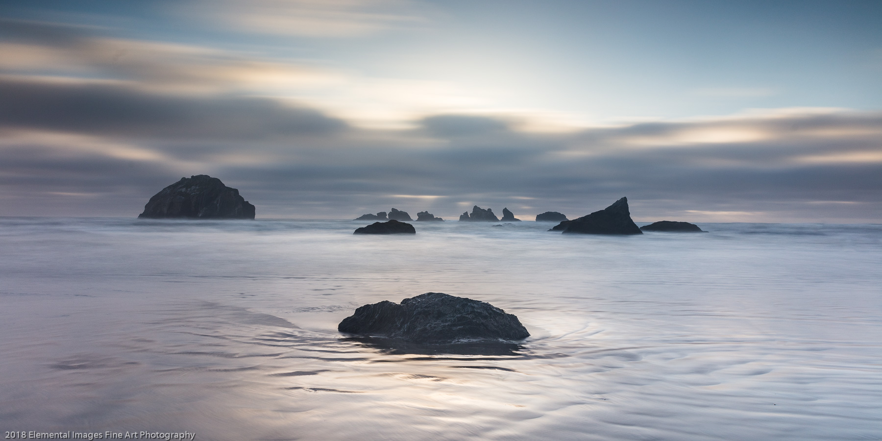 Face Rock at Dusk | Bandon | OR | USA - © 2018 Elemental Images Fine Art Photography - All Rights Reserved Worldwide