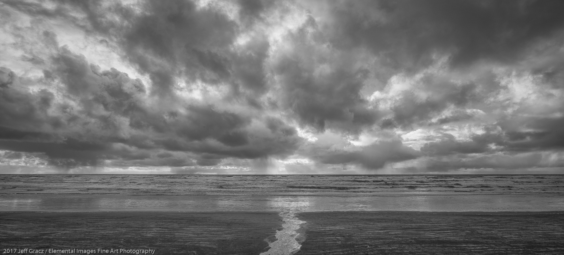 Stream, Surf and Sky | Cannon Beach | OR | USA - © 2017 Jeff Gracz / Elemental Images Fine Art Photography - All Rights Reserved Worldwide