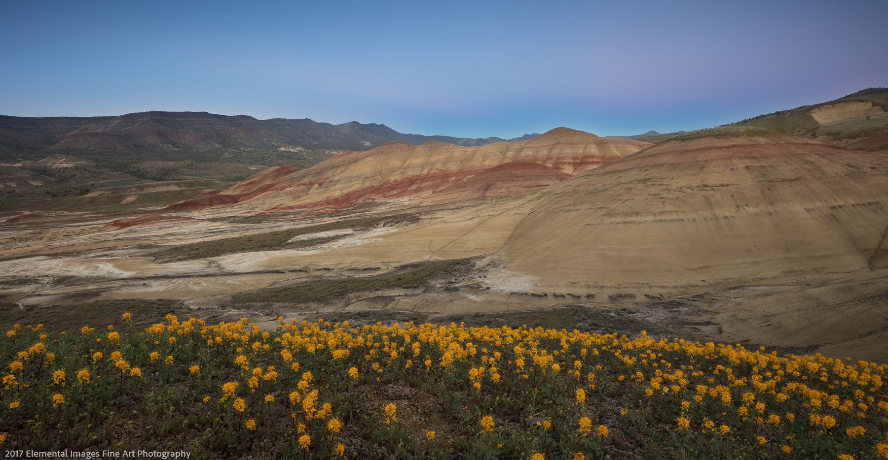 Last Light on the Painted Hills | John Day Fossil Beds National Monument | OR | USA - © 2017 Elemental Images Fine Art Photography - All Rights Reserved Worldwide