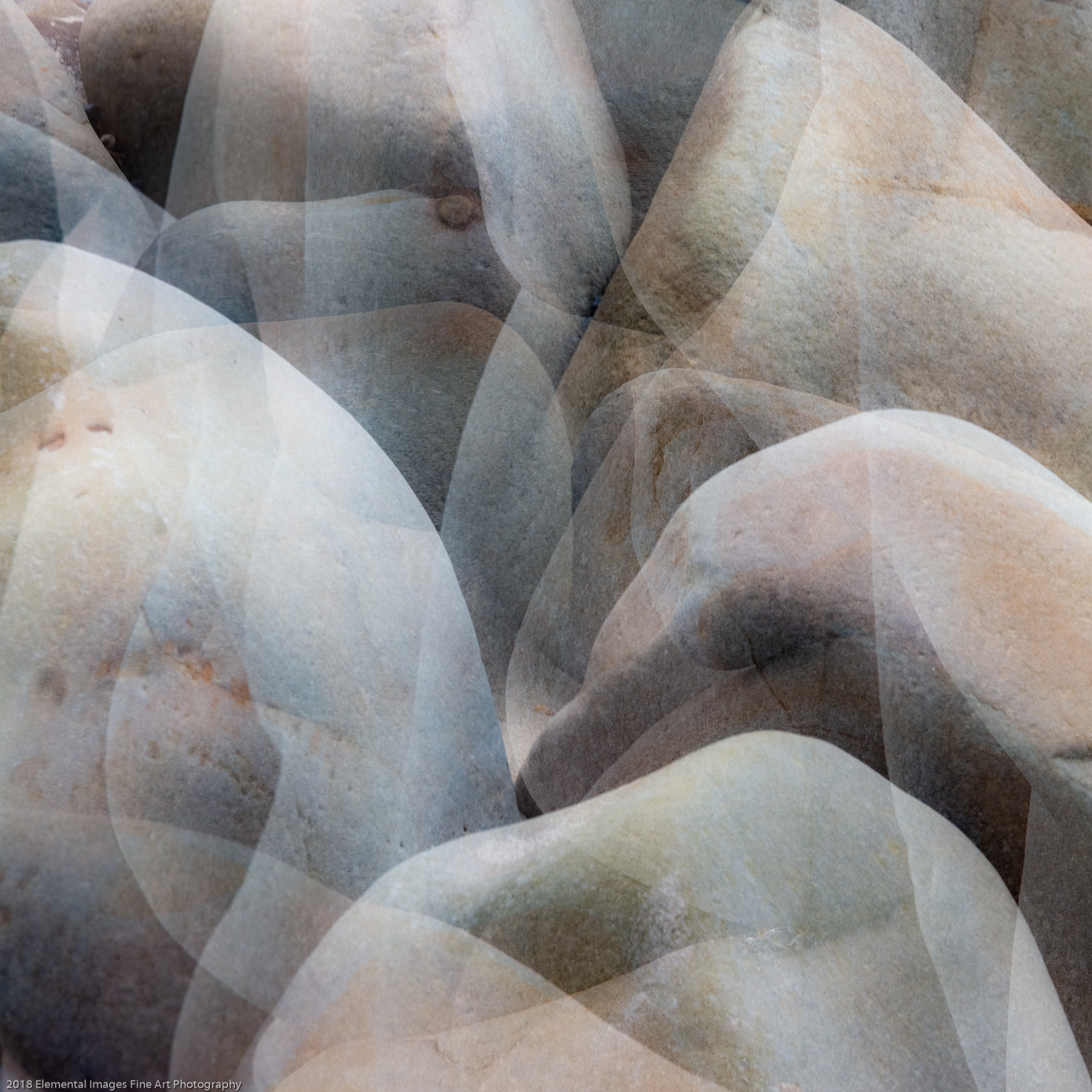 Stones #37   Cape Meares   OR   USA - © 2018 Elemental Images Fine Art Photography - All Rights Reserved Worldwide