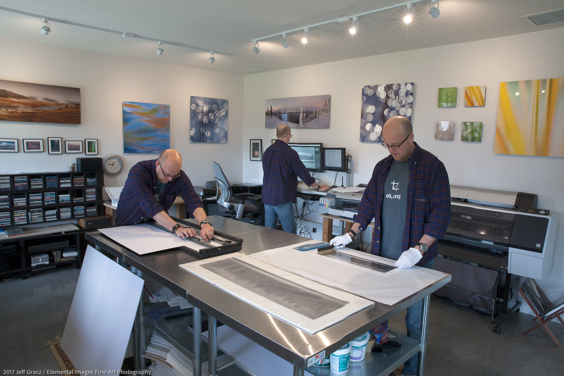 Print making in the studio | Vancouver | WA | USA - © 2017 Jeff Gracz / Elemental Images Fine Art Photography - All Rights Reserved Worldwide
